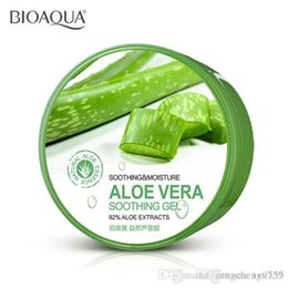 Wholesale NEW PURE ORGANIC ALOE VERA GEL Cream Hyaluronic acid mask Soothing Moisture Remove Acne Hydrating Whitening Oil control skin care