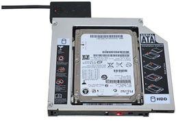 2 ADET Evrensel Alüminyum 2nd HDD Caddy 12.7mm SATA 3.0 DVD HDD Adaptörü için 2.5 '' 7/9 / 9.5 / 12.5mm SSD HDD Durumda Muhafaza CD-ROM Optibay nereden