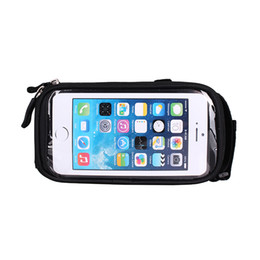 Wholesale Mtb Frame Bag Pannier - Waterproof Touch Screen Bicycle Bags Cycling MTB Mountain Bike Frame Front Tube Storage Bag for 5.0 inch Mobile Phone 4 Colors