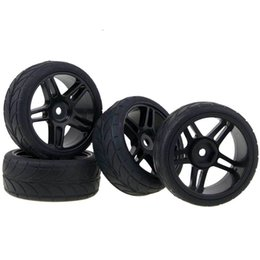 Wholesale Hsp Rc Tires - RC HSP For 1:10 On-Road Racing Car 905B-6086 Plastic Wheel Rims & Tires Tyre