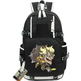 Wholesale Gyms Pictures - Cool JunkRat backpack Fight picture school bag Jamison Fawkes daypack Game schoolbag Outdoor rucksack Sport day pack