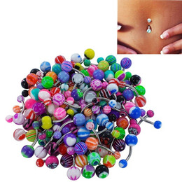 Wholesale Ear Ring Black - New Fashion Stainless Steel Navel Piercing Tongue Rings For Women Men Body Jewelry Belly Rings Lip Piercing Bar Ring Ear Studs Wholesale