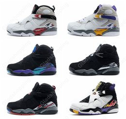 Wholesale Spring Bunnies - New Retro 8 Aqua Chrome Playoffs Three Peat champane Bugs Bunny Mens basketball shoes sneakers Cheap Retro 8s basket ball athletic shoes Air