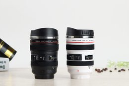 Wholesale Novelty Travel Mugs - Creative Camera Lens Mug Stainless Steel Liner Emulation Camera Lens Mugs Coffee Tea Cup Novelty Gifts Travel Flasks Thermocup 400ml