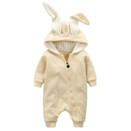 Wholesale Rabbit Romper - Fashion Autumn Baby's Rompers Newborn Baby Girls Boys Clothing Cute Rabbit Ear Romper Cotton Long Sleeve Bunny Clothes BR006