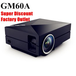 Wholesale brand projector - Wholesale-aao 2016 Brand New Updated Version Solo GM60A Mini Portable Metal LED Home Theater Projector HD Video Projector Support 1080p