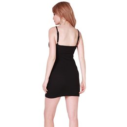 Wholesale Spaghetti Strap Tank Dress - Fashion Women Sexy Backless Basic Dresses Sleeveless Slim Vestidos Vest Tanks Bodycon Dress Strap Solid Party Dress