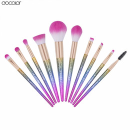Wholesale Hair Fantasy - Docolor 10PCS Makeup Brushes Fantasy Set Foundation Powder Eyeshadow Oval Brush Kits Gradient color makeup brush set maquillage Cosmetics