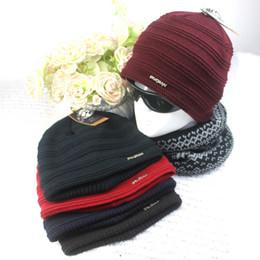 Wholesale Wholesale Blank Women Beanies - Beanies Winter Hat For Men Knitted Hat Women knitting hats Knit Caps Blank Casual Wool Warm Flat Bonnet Beanie striped man fashion hats
