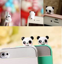 Wholesale Mobile Jack Dust - Mobile Phone Panda Type Anti-Dust Plug Earphone Dustproof Cover Stopper Cap anti dust plug for iphone 6 7 samsung s8