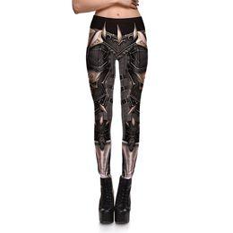 Wholesale Plus Size Patterned Leggings - Hot Sale Womens Mechanical Print Pattern Casual Slim Fitness Sports Leggings Pencil Pants For Female Fashion Plus Size Skinny Trousers