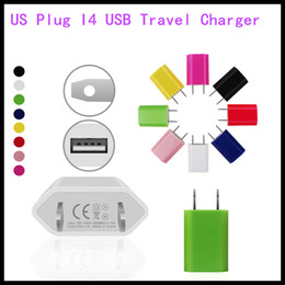 Wholesale apple iphone 5c wall charger - US Plug I4 USB Travel Charger AC Adapter US Plug Wall cable Charger for iPhone 5 5S 5C Samsung