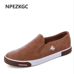 Wholesale shoes casual men lowest price - Hot Sale Low price Mens Breathable High Quality Casual Shoes PU Leather Casual Shoes Slip On men Fashion Flats Loafer