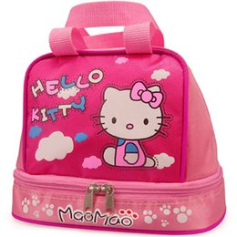Wholesale Kitty Tote Bag - Wholesale-Lovely Hello Kitty Women Casual Cartoon Outdoor Bag Oxford Tote Mummy Picnic Bag Women Baby Diaper Bags