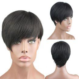Discount short hair weave hairstyles - Short Human Hair Wigs For Black Women  BOB Brazilian Virgin 455e942c4c