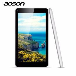 tableta dual core a23 Rebajas Al por mayor-actualizado nuevo Envío gratuito Aoson M751S-BS 7 pulgadas para niños Tablet PC 1024 * 600 A33 Quad Core Dual Camera 512MB / 8G Android 4.4 OS