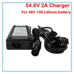 Wholesale Lithium Batteries For E Bike - Great quality 54.6V 2A Li ion Battery charger 48V 2A XLRM Socket connector for 48V 13S Lithium e bike bicycle bike battery Charger