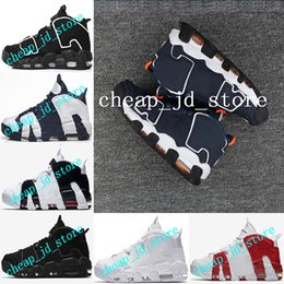 Wholesale Olympic Boxing - (With box) 2017 AAA+Quality Air 96 QS Olympic Varsity Maroon Black white gold Mens Basketball Shoes for Airs 3M Sports Sneakers 41-47