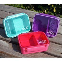 Wholesale Meal Kit - CJ012 Bento box Cartoon cute Single sealed plastic lunchbox square box can microwave sandwiches Food Container Meal Box