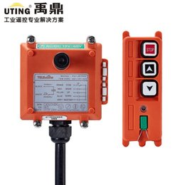 Wholesale Crane Remote - Wholesale- Telecontrol UTING F21-2S Industrial Radio Remote Control AC DC Universal Wireless Control for Crane 1 Transmitter and 1 Receiver