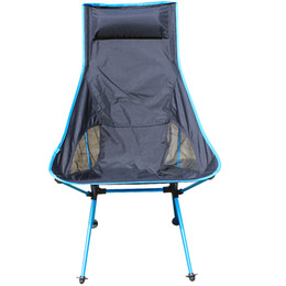 Wholesale Bear Packing - Wholesale- Fishing chair Portable Camping Stool Folding Chair Packed Seat For Picnic Barbecue Big Load Bearing Light Weight