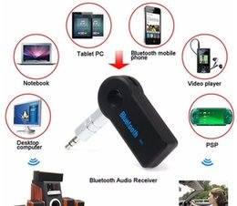 Wholesale iphone wireless music receiver - Car Audio Receiver Universal 3.5mm Streaming Car A2DP Wireless Bluetooth AUX Audio Music Receiver Adapter Handsfree with Mic Phone MP3