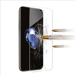 Wholesale Anti Shock Iphone 4s - For Iphone X 8 7 7Plus 6 6S 6+ Plus 5 5S 5SE 5C 4 4S 9H 0.26mm 2.5D Clear Transparent Tempered Glass anti shock screen protector