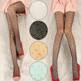 Wholesale Nude Tights Wholesale - Wholesale- Women Nude Sexy With Fashion Sheer Polka Dot Patterns Pantyhose Tight Hosiery Charming Stockings Leg Slimmer