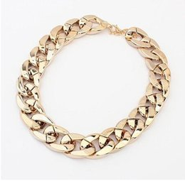 Wholesale Hiphop Necklace Acrylic - HipHop 2017 new fashion wholesale accessories sale fashion jewelry brand resin created gemstone vintage statement necklace