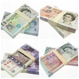 Wholesale Collections Money - GBP 5 10 20 50 for props and Education bank staff training paper fake money copy money children gift collection