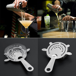 Wholesale icing kits - Bartender Cocktail Shaker Bar Strainer Kit Barware Tools Ice Mesh Strainer Bar Percolator Colander Cocktail Martini Drinking