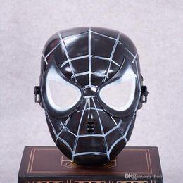 2019 fabrication de masque pour enfants Spiderman Masque Rouge Noir Spiderman Super-héros Pour Enfants Masque Masquerady Halloween Cosplay Masques Client Maquillage Fête Nouveauté Masque fabrication de masque pour enfants pas cher
