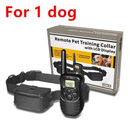 Wholesale Ultrasonic Collars For Dogs - for 1 dog 300M New LCD REMOTE CONTROL 100LV Shock + Vibra Remote Electric Dog Training Collar