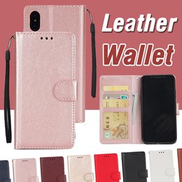 Wholesale Wallet Iphone Money Flip - For iPhone X PU Leather Flip Fold Wallet Case Cover With Money Pocket Card Slots Stand Cover For iPhone 8 7 Plus Samsung Note 8 S8 S7 Edge