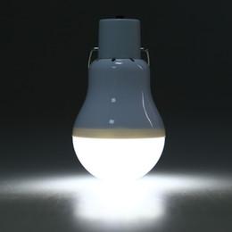 Lanterna solar branca ao ar livre on-line-Luz de Acampamento ao ar livre 130LM Portátil Lâmpada Led Carregado Lâmpada de Energia Solar Lanternas Portáteis Bola Lâmpadas Branco Quente + NB