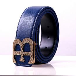 Wholesale Letter B Designs - Hot good price 2017 genuine leather belts for men designer mens belt design brand women waist belts top fashion smooth B buckle luxury mens