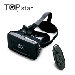 Wholesale Head Magnets - Wholesale- RITECH II Head Mount Plastic Version VR Virtual Reality Glasses Magnet Google Cardboard for 3.5-6 inch + Bluetooth controller