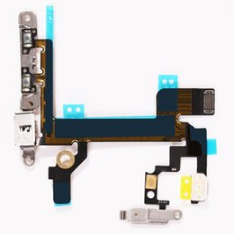 Wholesale iphone 5s cable oem - New OEM Switch On   OFF Power Flex Cable For iPhone 5S Mute Volume Button Flex Cable Ribbon