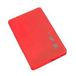 "Wholesale Case Hd Sata - Wholesale- SATA USB 2.0 SATA 2.5"" HD HDD HARD DISK DRIVE ENCLOSURE EXTERNAL CASE BOX RED"