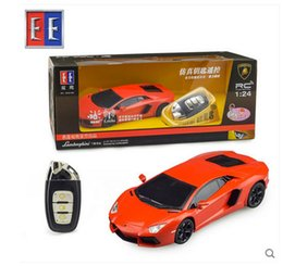 Wholesale Toy Car Keys Remote - Wholesale- Drift Speed Radio Remote control RC 1:24 car key induction puzzle boy toy gift free shipping