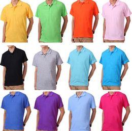 Wholesale men cotton formal shirt purple - Top cotton Hot Golf solid color Classic men polo shirts Famous Brand horse Men's Tees Formal Businessman Pony Polos