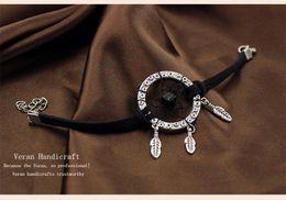 Wholesale Bracelet Dreamcatcher - New Mini Indian Dreamcatcher Bracelet Design Vintage Dream Catcher Decor Bracelets & Bangles for Women Decorative Crafts Gifts