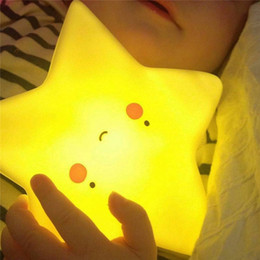 Wholesale Led Nightlights For Kids - Cute Novelty Kids Led night light moon star sun Catoon Creative luminaria Led nightlight for bedroom baby children night lamp