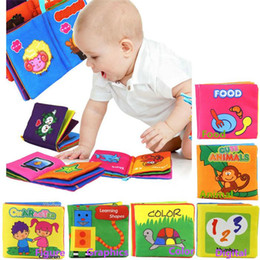Wholesale Educational Cloth Books - New Arrival Kids Baby Cloth Books Nursery Decor Educational Intelligence Development Soft Size 10*9CM Free Shipping