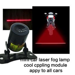 Wholesale Tail Brake Fog Lights - MINI Car Styling Anti-Collision LED Fog Lamp Auto Motorcycle Bike Running Tail Light Brake Parking Lamp Rearing Warning Safety Rear