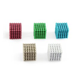 Wholesale Magnetic Ball 5mm - New 216pcs 5mm Magic Cube Magnetic Balls Puzzle Cube with metal box Adult Relax de-stress Game Toys Birthday Present Gift Buck Balls