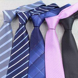 Wholesale Mens Ties Sets - Wholesale- Mens Business Tie Formal Striped Dot Jacquard Wedding Necktie 8CM Classic Corbata Neckwear Gravata