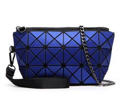 Wholesale Black Quilted Wallet - new pearl bag matte Lattice geometry 3x6 Quilted shoulder bag Fold over hand wallet & Crossbody bag