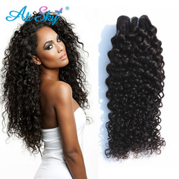 Wholesale Good Cheap Virgin Brazilian Hair - Wholesale-brazilian kinky curly virgin hair 4pc lot color #1b brazilian curly hair maket good cheap weave tissage bresilienne