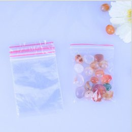 Wholesale Pe Ring - 5*7 cm Pack Mini PE Transparent Plastic Bag Gift Packaging Bags For Rings Earrings Jewelry Mini Ziplock Bags 500pcs=1bag